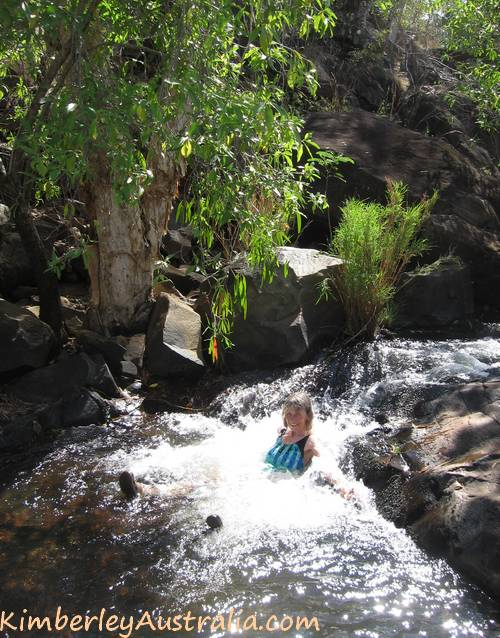 Relaxing at Mt. Matthew Gorge