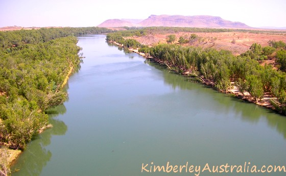 Deep, slow-moving part of Ord River