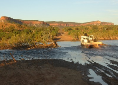 Truck crossing the Pentecost River