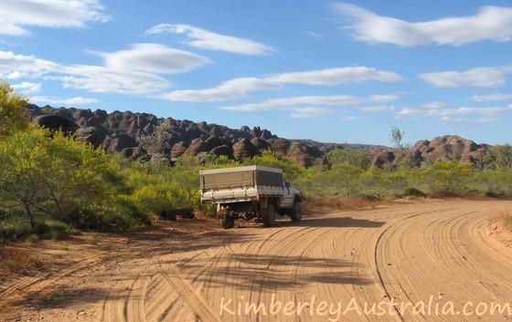 Approaching the Bungle Bungles range