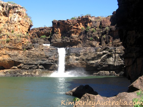 At the bottom of the Mitchell Falls