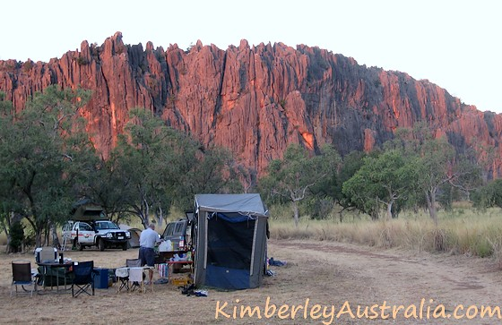 Sunset at Windjana Gorge campground