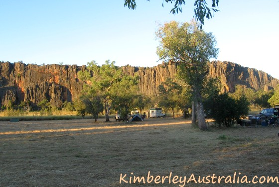 The spacious campsite at Windjana Gorge National Park