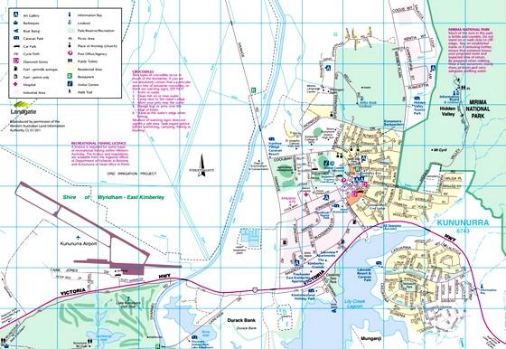 Kununurra Map