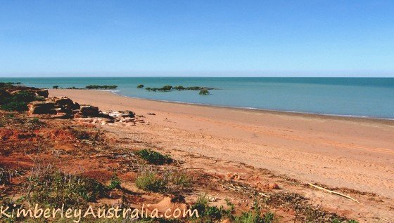 Beach at the Broome Bird Observatory
