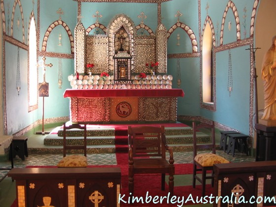 Beagle Bay's Sacred Heart Church altar