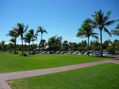 Manicured Cable Beach lawns