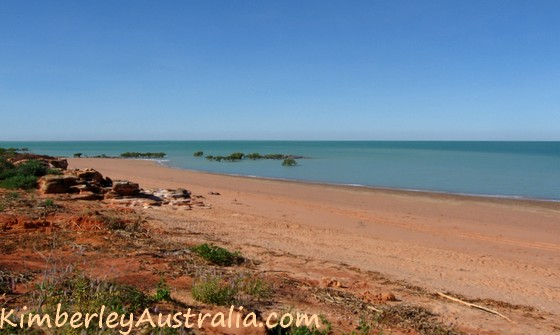 Beach outside Broome