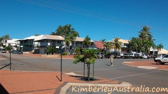 Typical view of the town Broome in WA