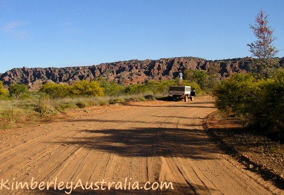 Road into Purnululu National Park