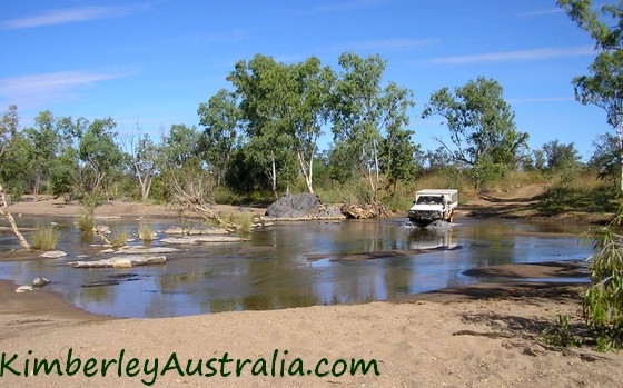 Creek crossing on the way to the Bungles National Park