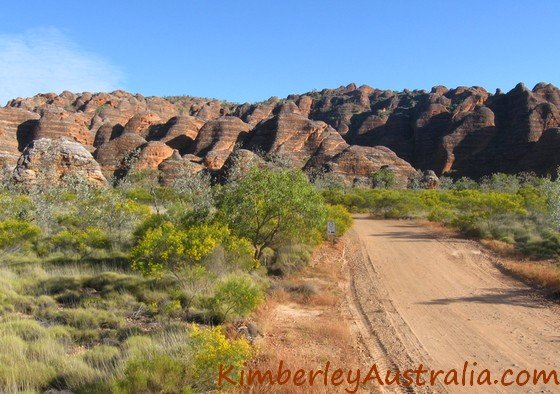 Approaching the Bungles range