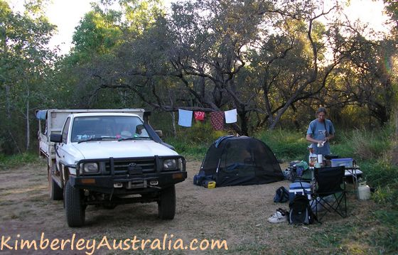 Public campgrounds at the Bungles