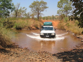 Creek crossing on way to Mornington Sanctuary