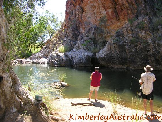 Fishing at Sawpit Gorge