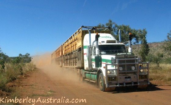 Road train on the Gibb River Road