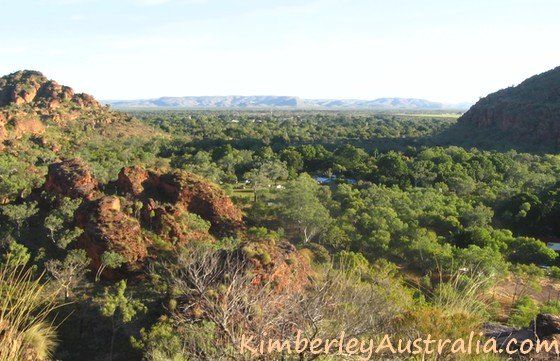 Attractive view over Kununurra