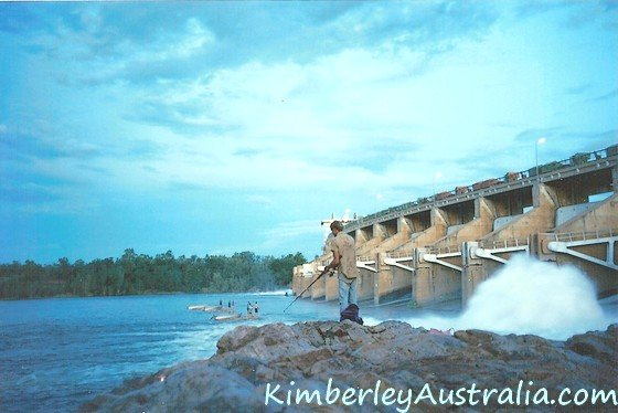 Fishing below the Diversion Dam in Kununurra