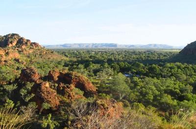 Aerial view over Kununurra