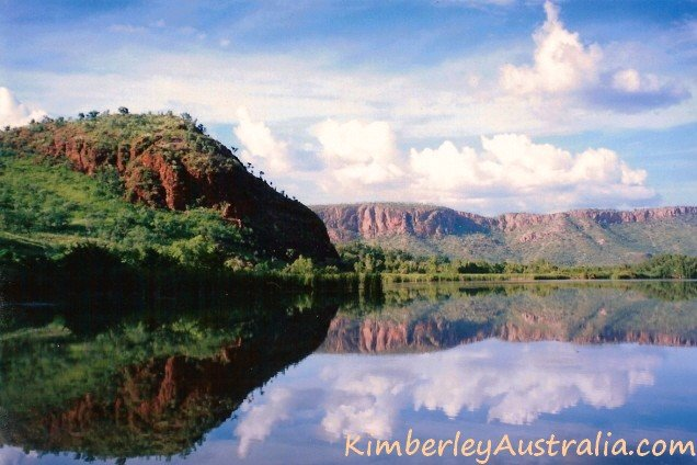 Ranges reflecting in Kununrra's Ord River