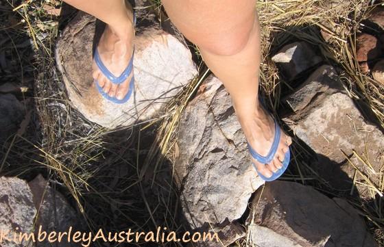 Appropriate footwear is important.