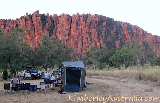 Sunset at Windjana Gorge campground